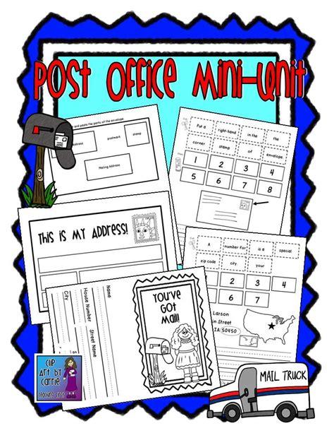 post office  letter writing mini unit teaching