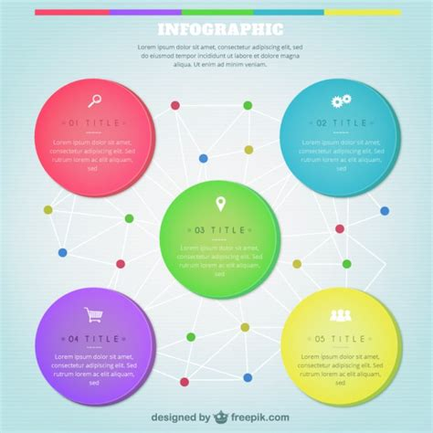 Colorful Infographic Template Vector  Free Download