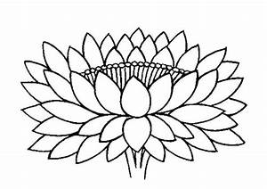 Buddhist Artwork: Line Art: Lotus Symbol 4