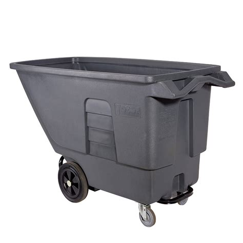 toter trash can lowes shop toter 151 48 gallon textured industrial gray plastic