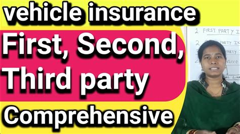 Also referred to as legal liability coverage, this section of your home or car insurance policy is set up to cover things. vehicle insurance first party insurance  second and third party  comprehensive insurance in ...