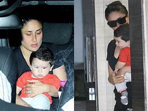 Taimur with mommy Kareena step out the house to meet ...