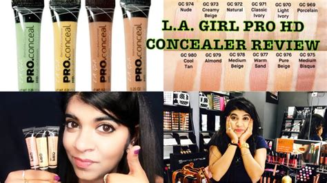 La Girl Pro Hd Concealer Small Vlog  Review And Demo