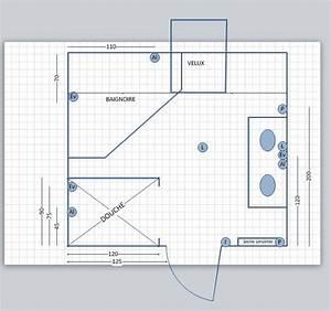 Implantation Salle De Bain : avis plan de salle de bain sous combles 10 messages ~ Dailycaller-alerts.com Idées de Décoration
