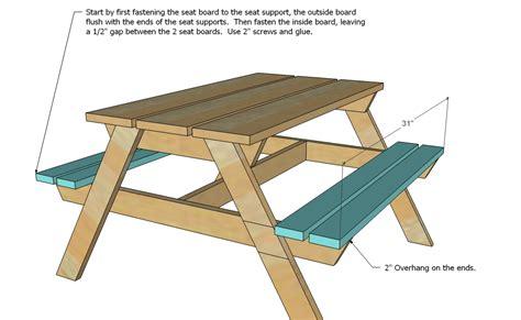 free picnic table plans woodwork kids picnic table plans pdf plans