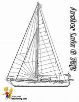Coloring Pages Boat Sailing Yacht Ship Catamaran Boats Printable Template Yescoloring Superb Sailboat Yatch sketch template