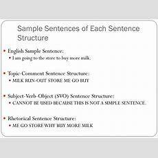 Asl Sentence Structure The Basics  Ppt Video Online Download