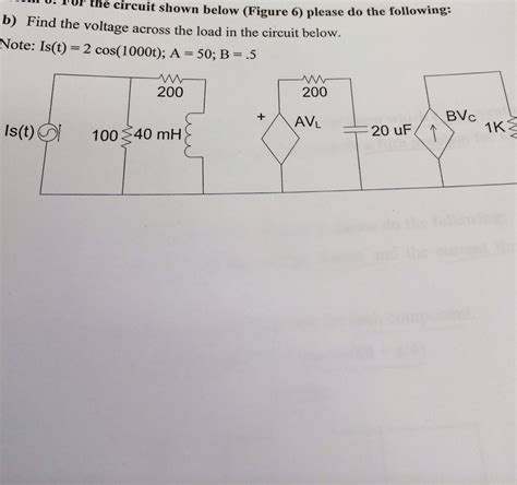 Solved For Circuit Shown Below Figure Please The
