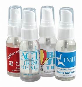 4 spray hand sanitizers for a heathy promotional campaign With hand sanitizer with company logo