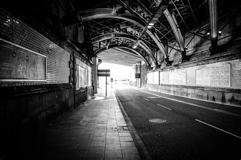 images light black  white road street night
