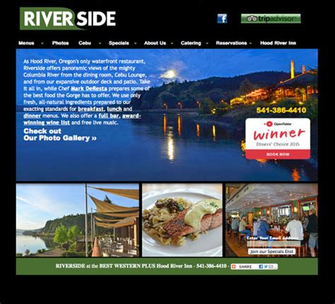 Ls Plus Riverside Hours by Riverside At The Best Western Plus River Inn Offers
