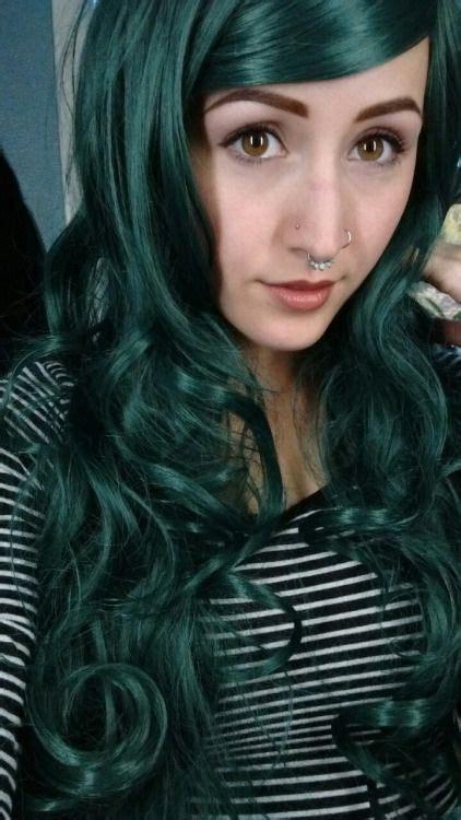 1000 Ideas About Dark Green Hair On Pinterest Emerald