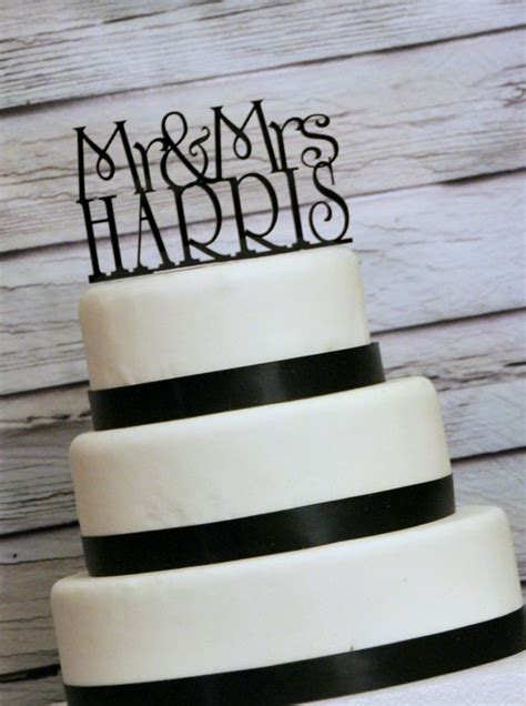 Wedding Cake Topper Or Sign Monogram Personalized With Mr