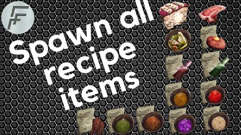 spawn  recipe items ark survival evolved
