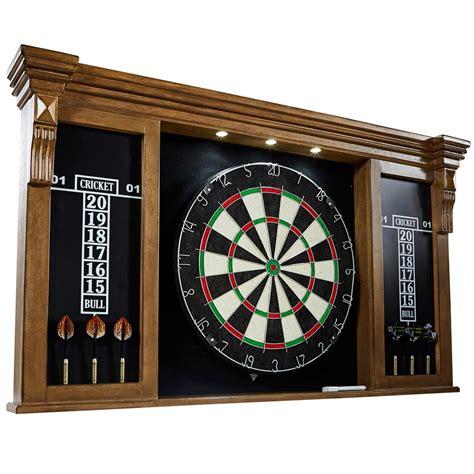 Dart Board Cabinet Lights by Barrington Woodhaven Premium Bristle Dartboard Cabinet Set