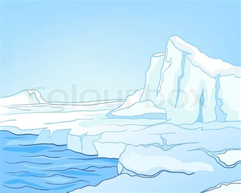 Cartoon Nature Landscape Arctic