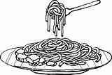 Spaghetti Coloring Pasta Pages Drawing Food Clipart Colouring Sheet Plate Noodle Cartoons Noodles Drawings Printables Children Meat Sketch Cartoon Sheets sketch template