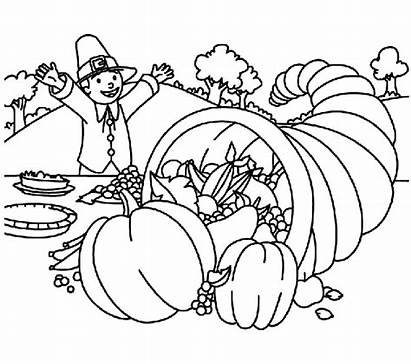 Thanksgiving Coloring Pages Crayola Bible Christian Cornucopia