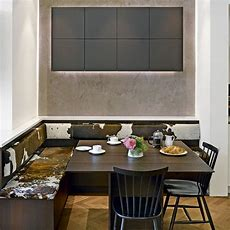 A Place To Sit Which Booths And Integrated Kitchen