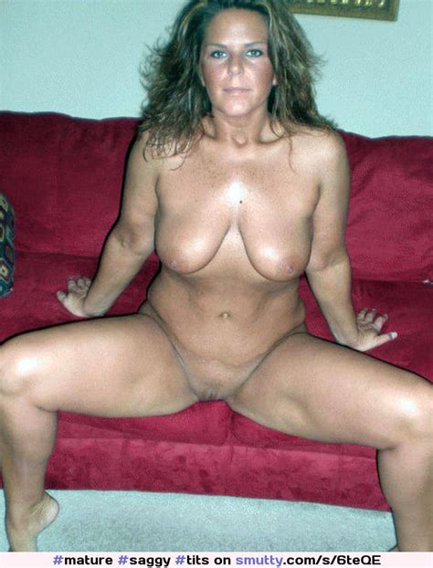 Mature Saggy Tits Hairy Open Shaved Pussy Naked
