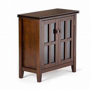 Simpli Home Artisan Solid Wood 30 In  Wide Contemporary