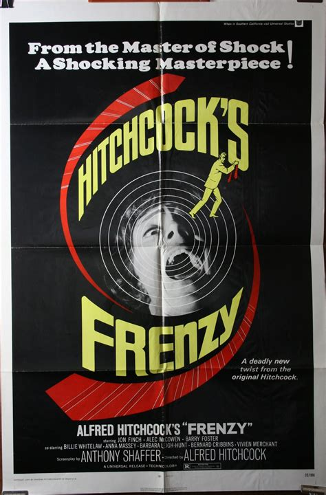 frenzy alfred hitchcock original  poster