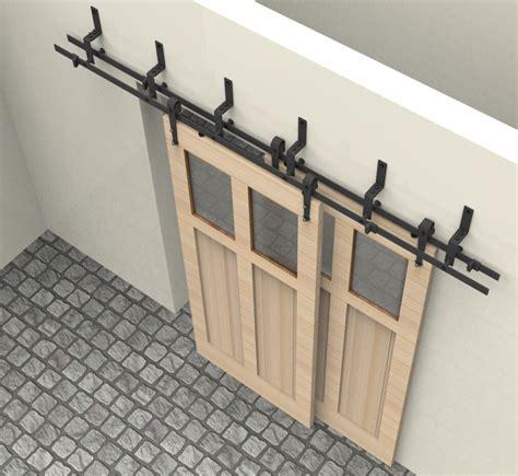 ft bypass sliding barn wood door closet door interior