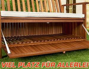 Banquette Coffre Exterieur : banc de jardin en acacia huil avec coffre de rangement ~ Teatrodelosmanantiales.com Idées de Décoration