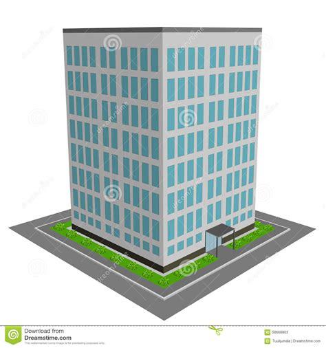 immeuble de bureaux immeuble des bureaux 3d illustration de vecteur image du