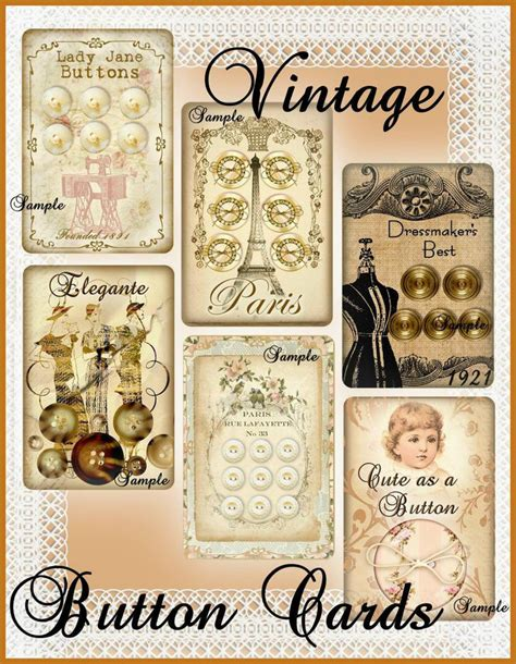 47,000+ vectors, stock photos & psd files. Vintage Button Cards for Tags, Labels, by Seneca Pond Crafts on