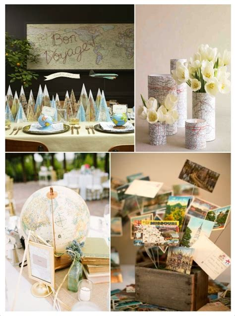 decoration table mariage theme voyage centre de table mariage voyage d 233 coration diy centre de table mariage table