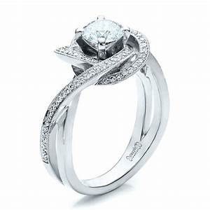 custom diamond engagement ring 1476 With custome wedding rings