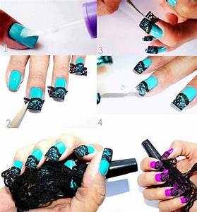 How to make nail art net step by step DIY instructions ...
