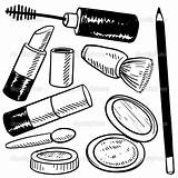 Makeup Coloring Pages sketch template