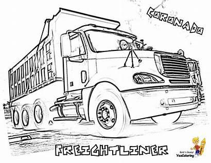 Coloring Truck Pages Kenworth Trucks Dump Freightliner