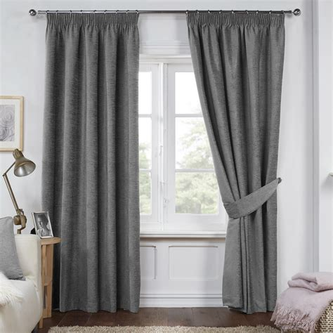 charcoal grey curtains dante charcoal grey luxury soft chenille lined pencil