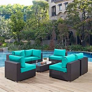 Modway Furniture Convene 7 Piece Outdoor Patio Sectional
