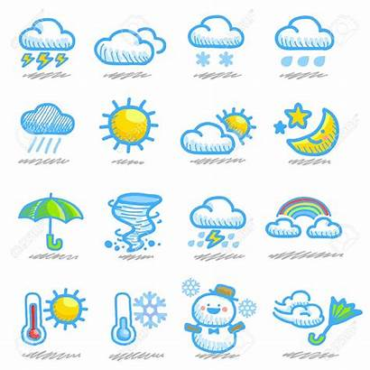 Weather Clipart Forecast Cartoon Icon Drawn Hand