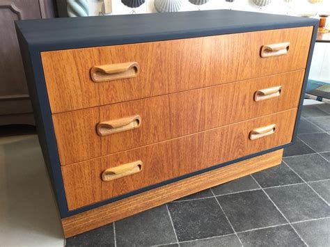 Mid Century, Retro, G Plan Fresco Chest Of Drawers Painted