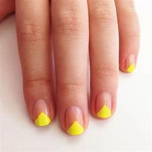 Déco French Manucure : ongles transparents et jaunes ~ Farleysfitness.com Idées de Décoration