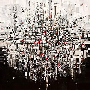 New Art Release Original Painting Modern Landscape Black