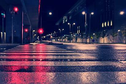 4k Night Street Lights Wallpapers