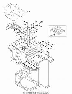 Troy Bilt 13wm77ks011 Pony  2015  Parts Diagram For Seat And Fender