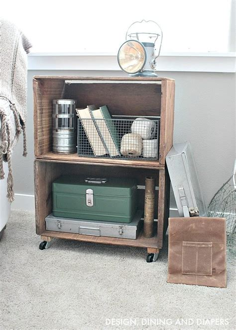 Apple Crate Bookcase by Trash To Treasure Apple Crate Bookcase Whiteaker
