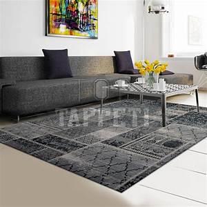 Tappeto moderno grigio for Tappeto grigio moderno