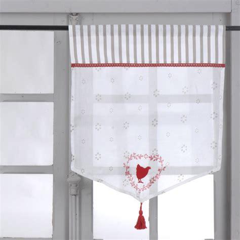 rideau de cuisine et gris rideau de cuisine style cagne 2 bise en coton gris