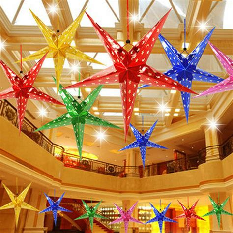 xmas string hanging star christmas party decoration