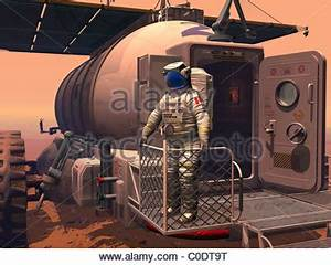 Mars exploration, artwork Stock Photo, Royalty Free Image ...