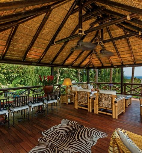 thatched gazebo  african decor  views   ocean