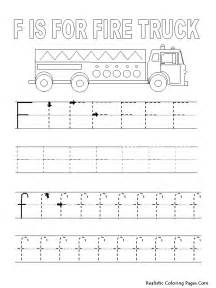 Tracing Letter F Coloring Pages
